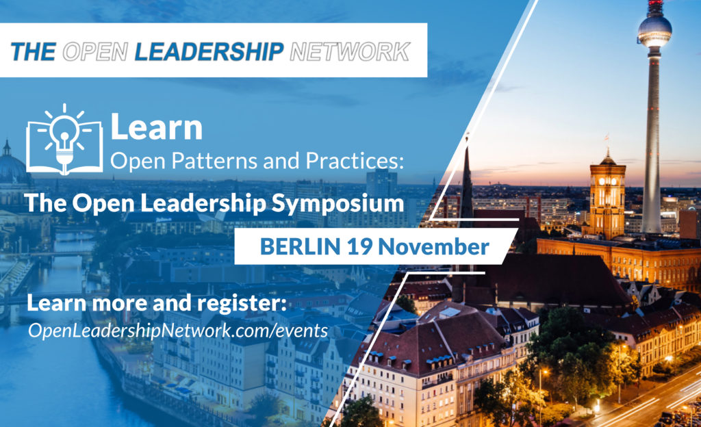 Learn Open Patterns and Practices at The Open Leadership Symposium in Berlin on November 19